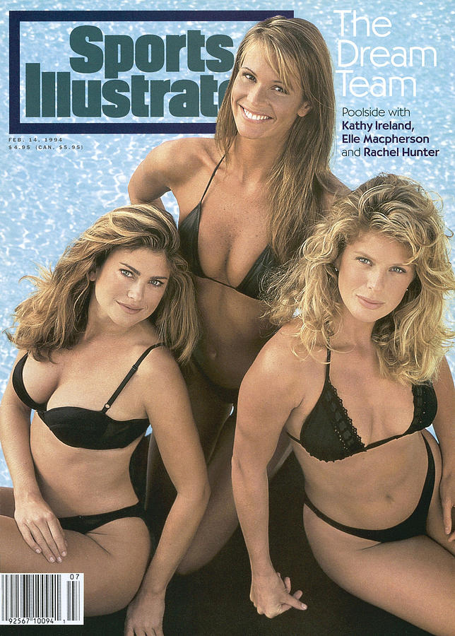 Kathy Ireland, Elle Macpherson, And Rachel Hunter Swimsuit Sports Illustrated Cover Photograph by Sports Illustrated