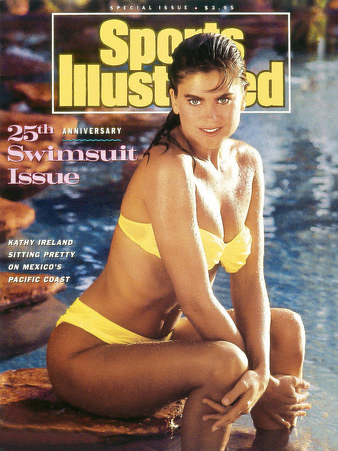 Kathy Ireland Swimsuit 1989 Sports Illustrated Cover Photograph by Sports Illustrated