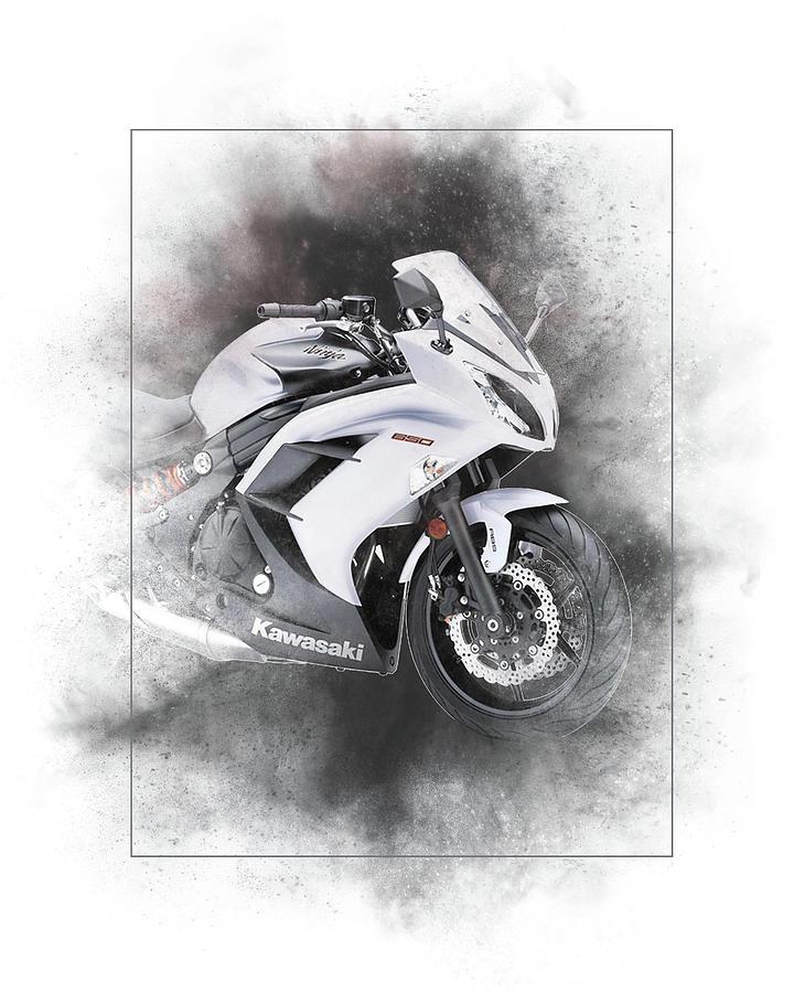 Kawasaki Ninja 650 Sport Painting Mixed Media By Smart Aviation