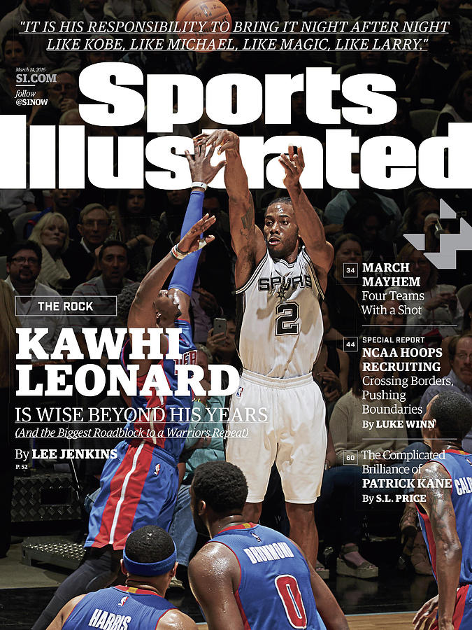Kawhi Leonard, The Rock, Is Wise Beyond His Years Sports Illustrated Cover Photograph by Sports Illustrated