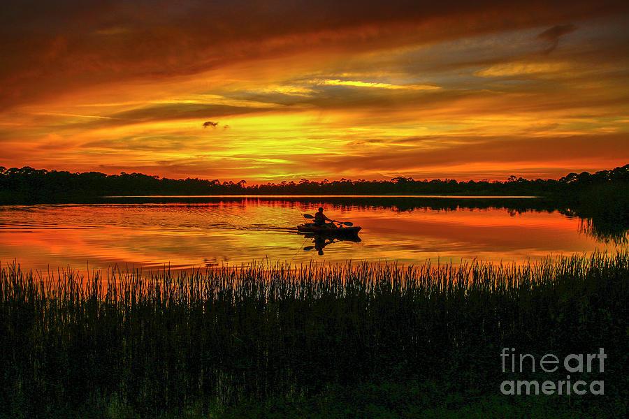 Kayak Sunset by Tom Claud