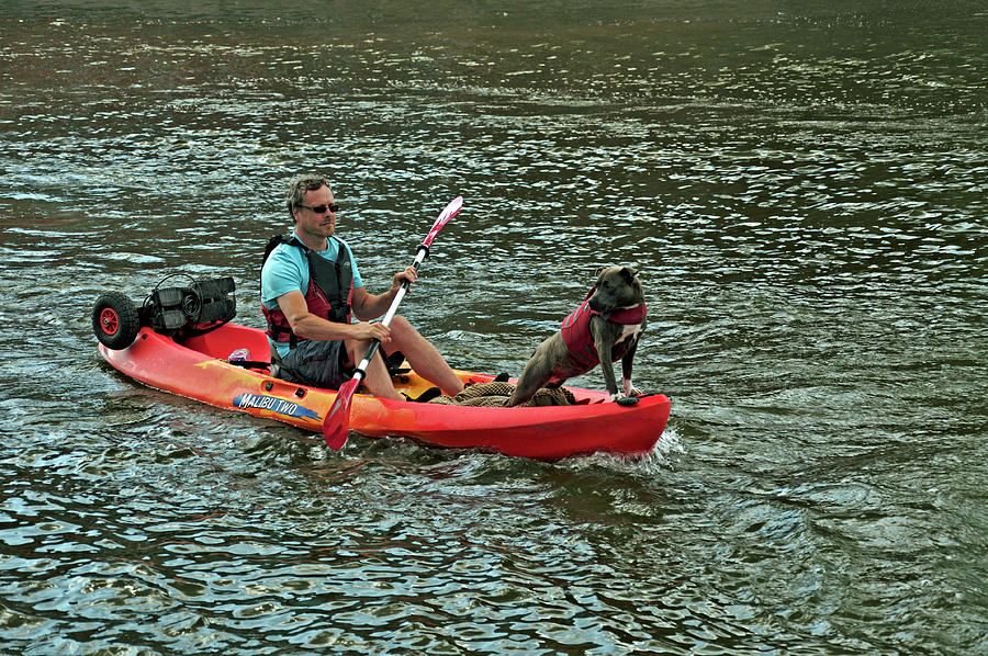 Kayaking Buddies - Stratford by Rod Johnson