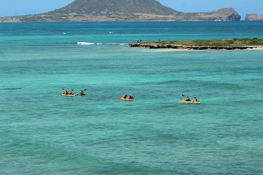 Kayaks Photograph - Kayaking by Carolyn Ricks