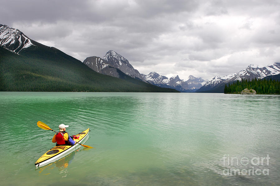 Deep Photograph - Kayaking In Banff National Park, Canada by Oksana.perkins