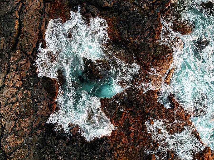 Kona Photograph - Keahole Aerial by Christopher Johnson