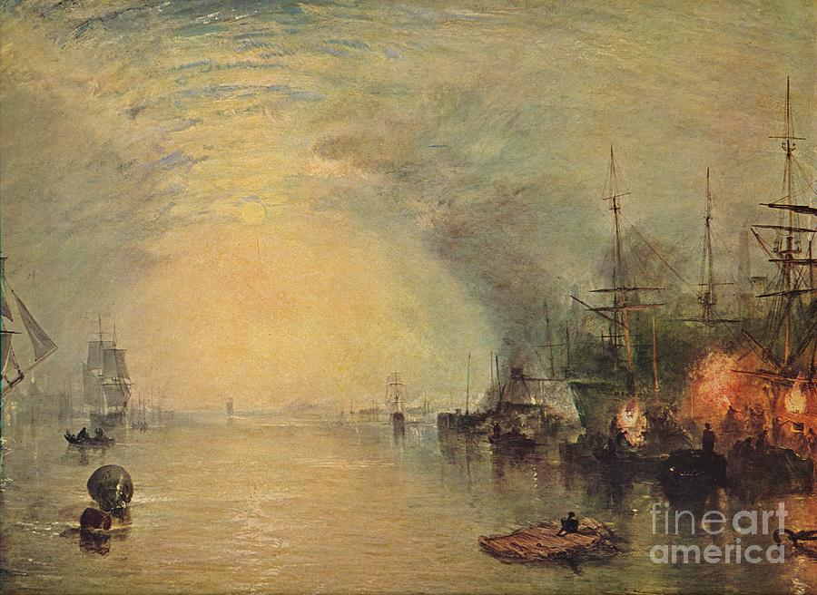 Keelmen Heaving In Coals By Moonlight Drawing by Print Collector