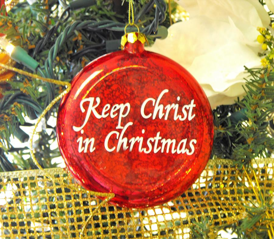 Keep Christ In Christmas Ornament Greeting Cards Photograph by ...