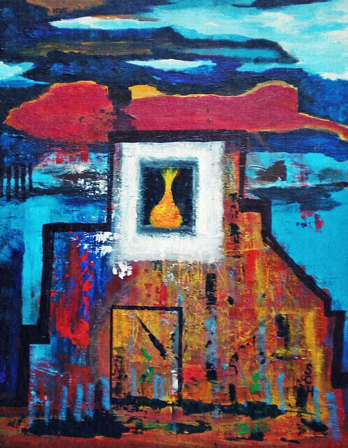 Abstract Painting - Keep The Large Light Burning by Scott Haley