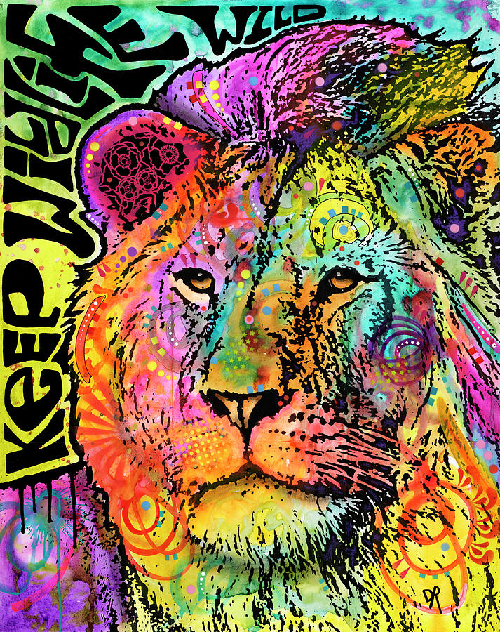 Cecil Mixed Media - Keep The Wildlife Wild by Dean Russo- Exclusive