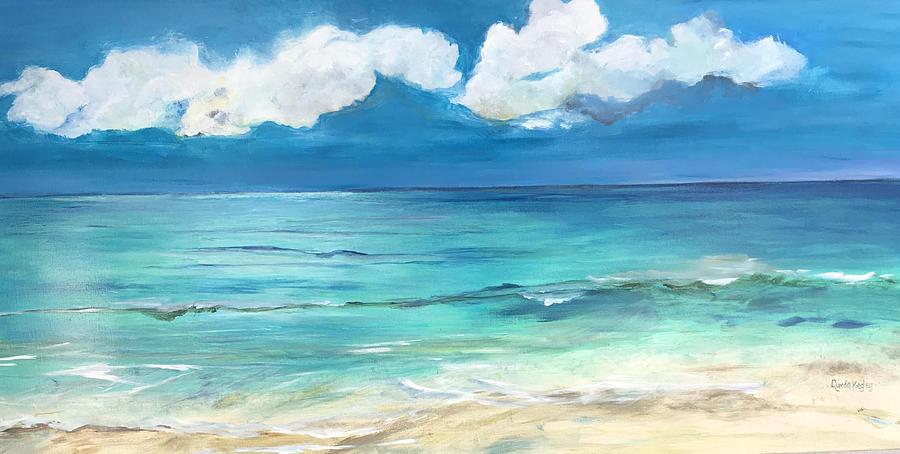 Ocean Painting - Luminosity by Linda Kelgey