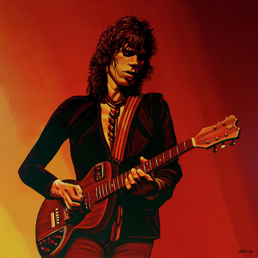Keith Richards Painting - Keith Richards 3 by Paul Meijering