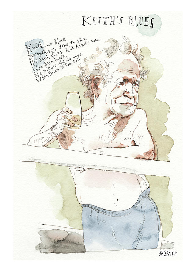 Keiths Blues Painting by Barry Blitt