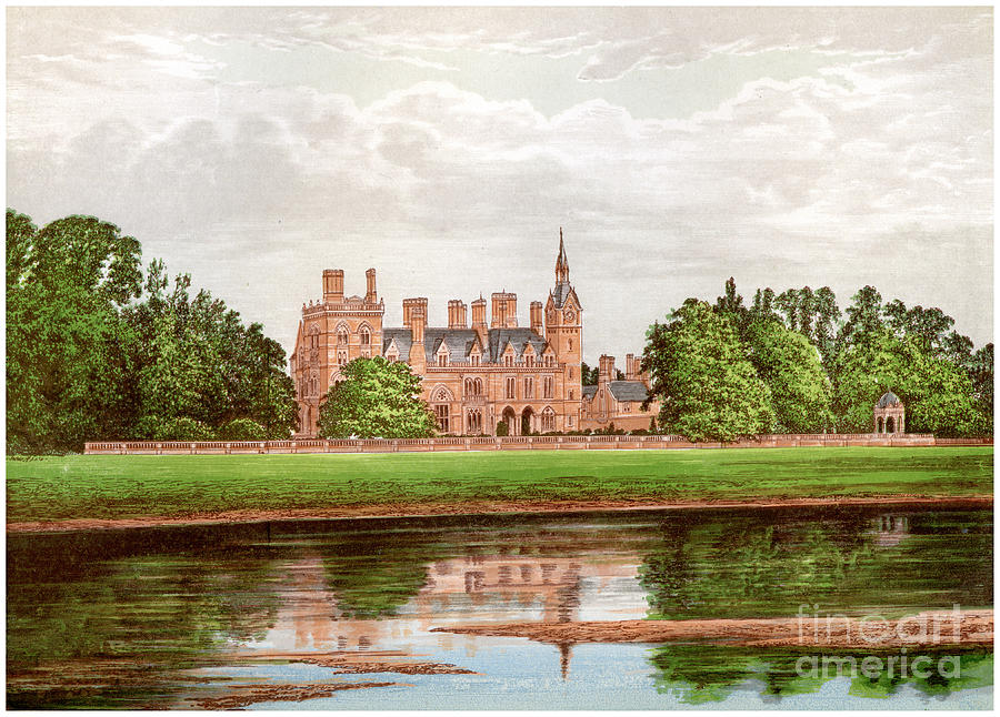 Kelham Hall, Nottinghamshire, Home Drawing by Print Collector