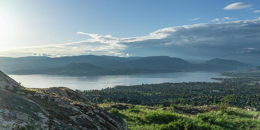 Kelowna and Okanagan Lake by Dave Matchett