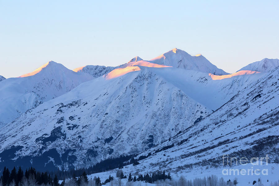 Kenai Mountains from Turnagain Pass on Kenai Peninsula Alaska by Louise Heusinkveld