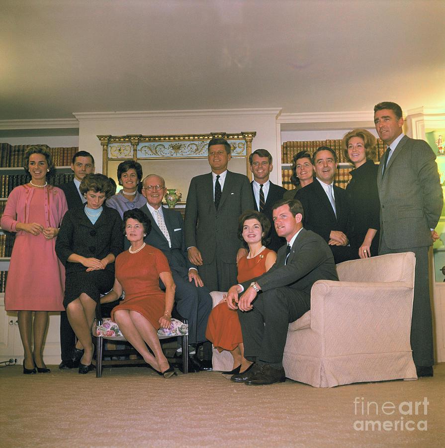 Kennedy Family Portrait Photograph by Bettmann