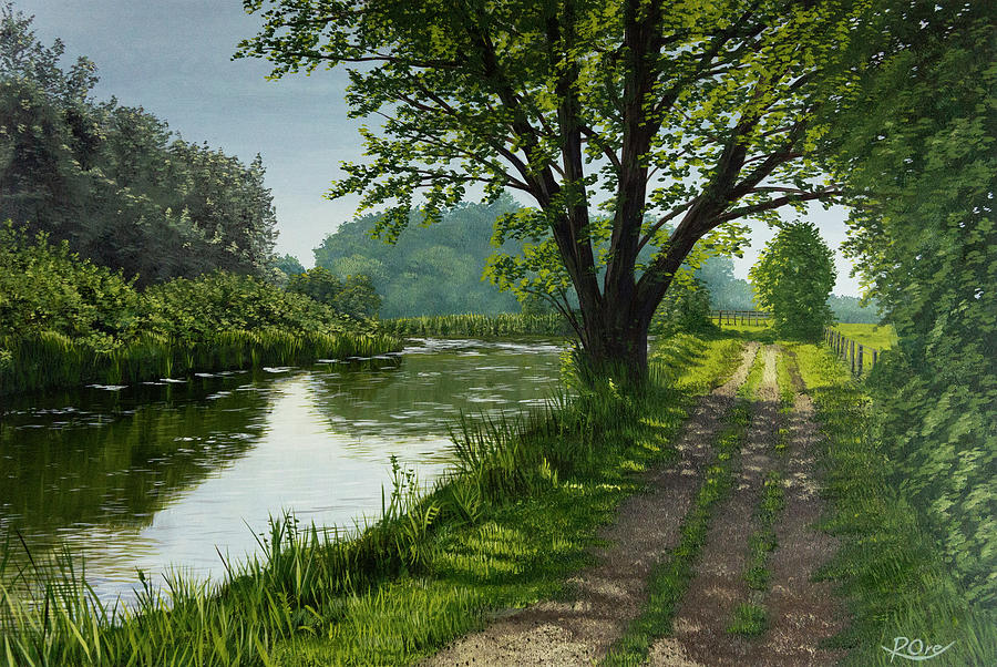 Kennet Walk Painting by Raymond Ore