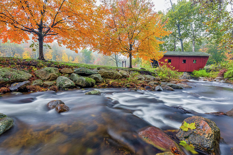 Kent Falls Autumn 2018 by Bill Wakeley