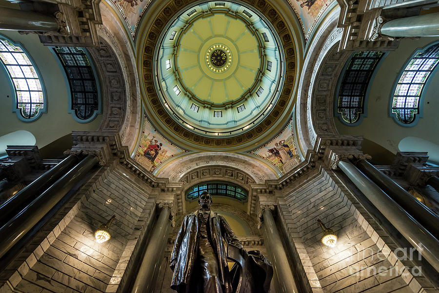 Kentucky Capitol Interior - Lincoln Statue - Frankfort by Gary Whitton