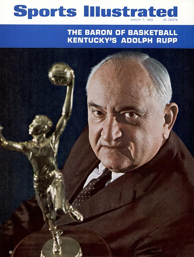 Kentucky Coach Adolph Rupp Sports Illustrated Cover Photograph by Sports Illustrated