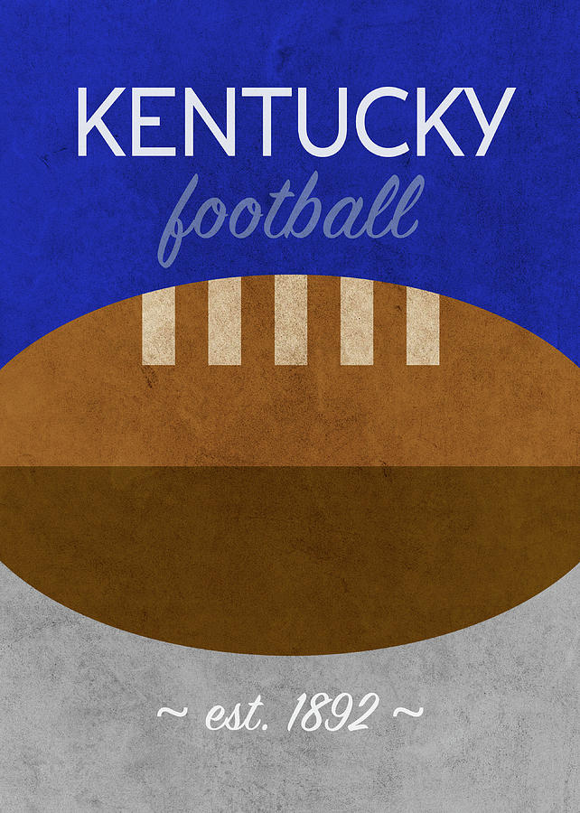 Kentucky Mixed Media - Kentucky Football Minimalist Retro Sports Poster Series 008 by Design Turnpike