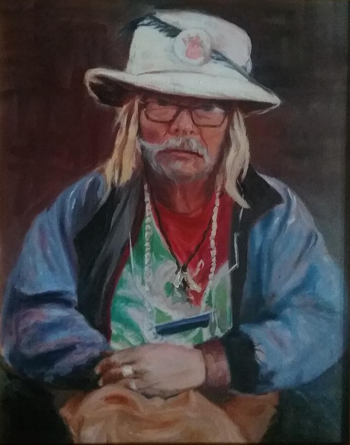 Older Man Painting - Kermudgeon  by Marcia Hochstetter