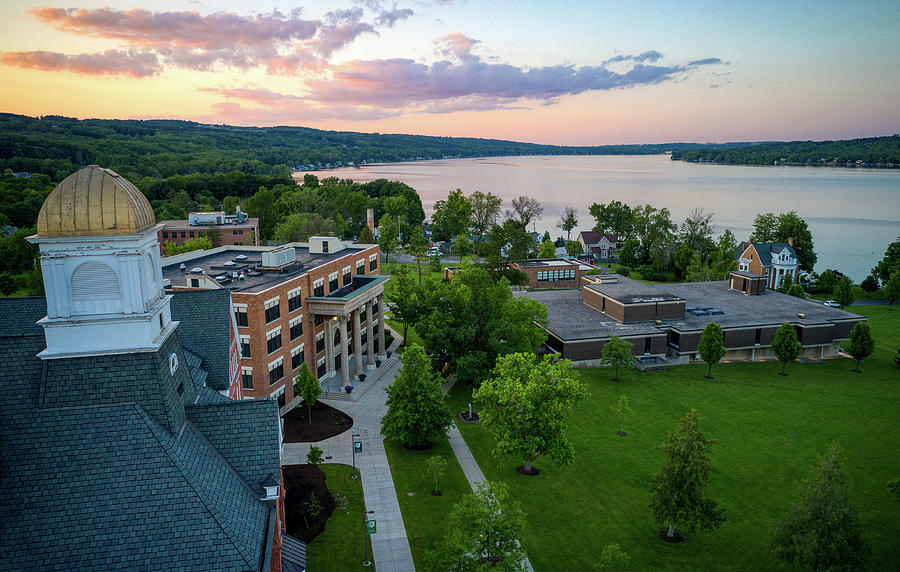 Keuka College Sunset June 2019 by Ants Drone Photography