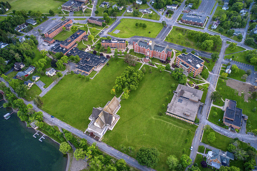 Keuka College Top Down View Upstate New York  by Ants Drone Photography