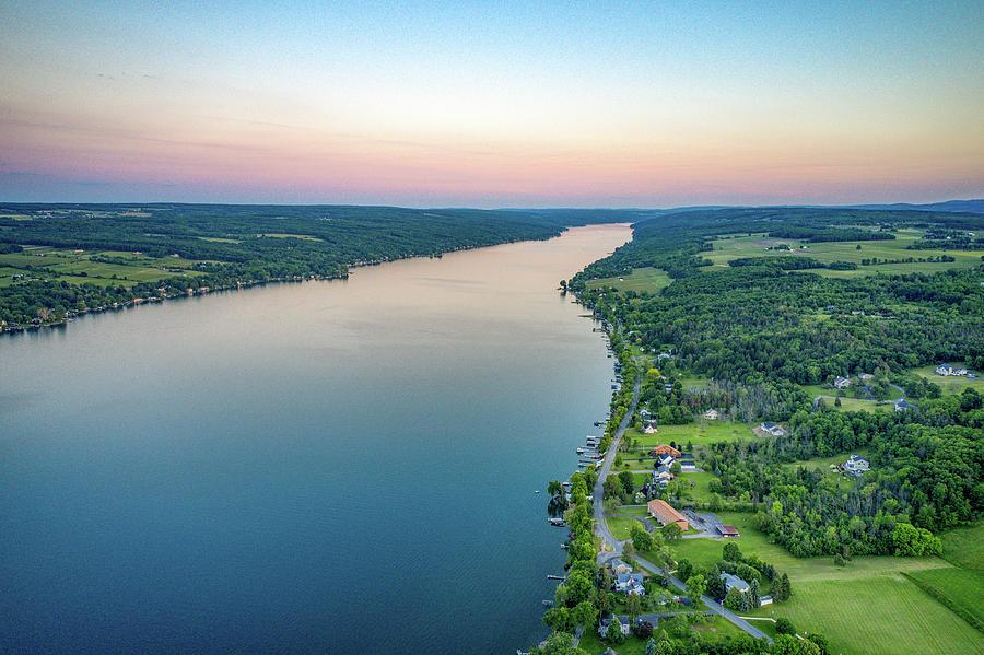 Keuka Lake South Sunset by Ants Drone Photography