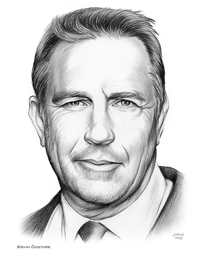 Kevin Costner Drawing