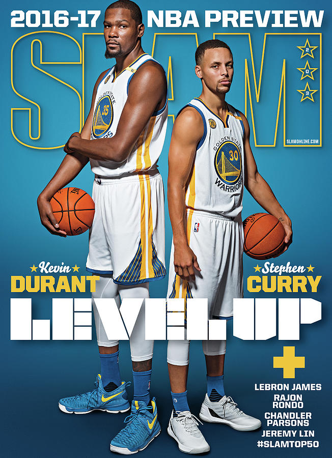 Kevin Durant & Stephen Curry: Level Up SLAM Cover Photograph by Atiba Jefferson
