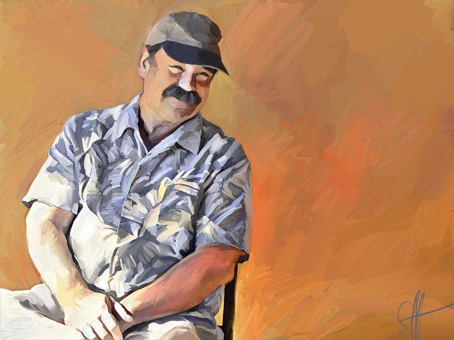 Portrait Digital Art - Kevin by Scott Waters