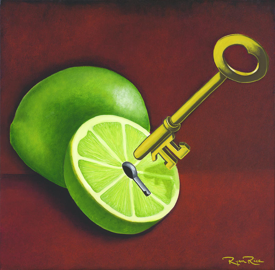 Food Painting - Key Lime Pi by Ryan Rice Fine Art