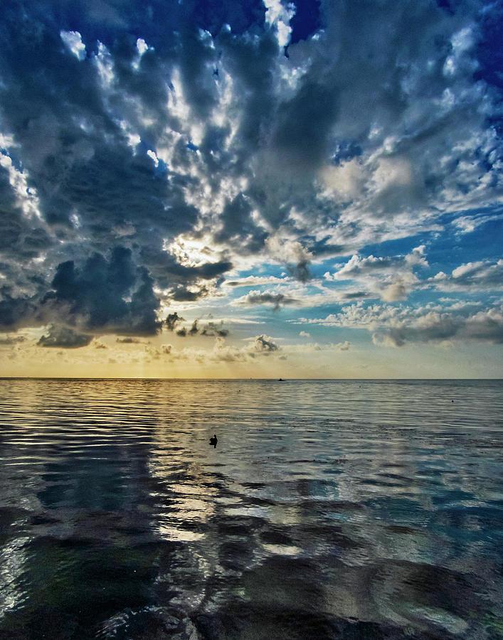 Key West Cloudy Blue Sunrise by Bob Slitzan