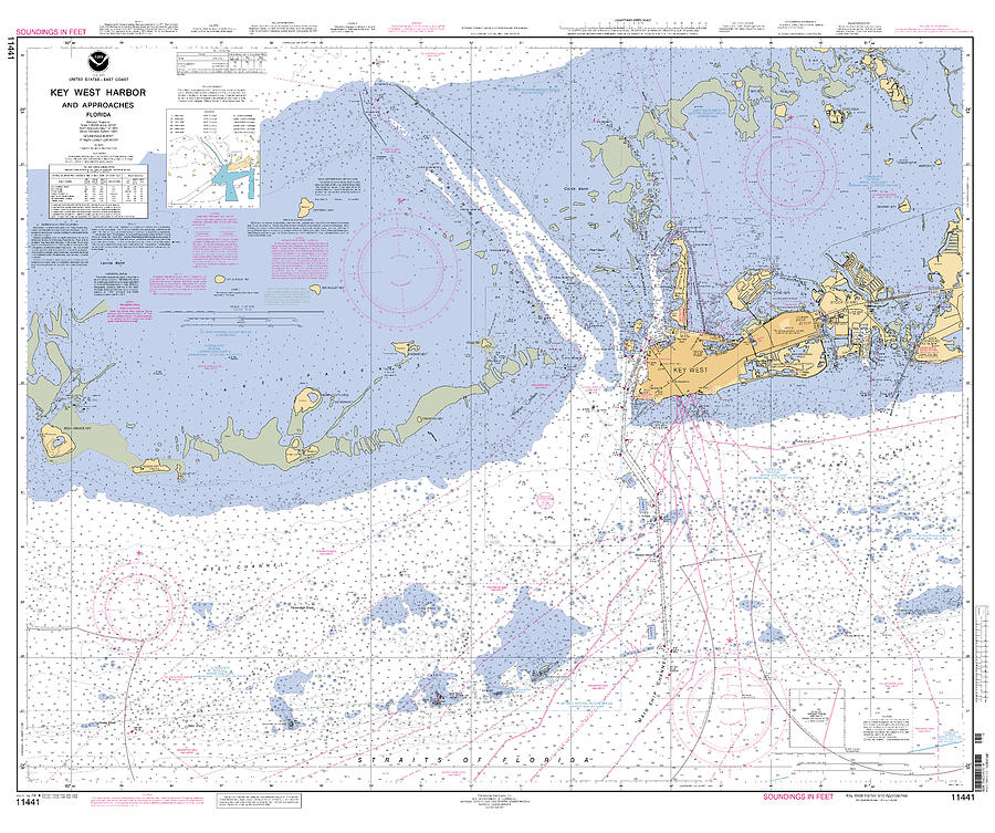 Key West Harbor and Approaches, NOAA chart 11441 by Paul and Janice Russell