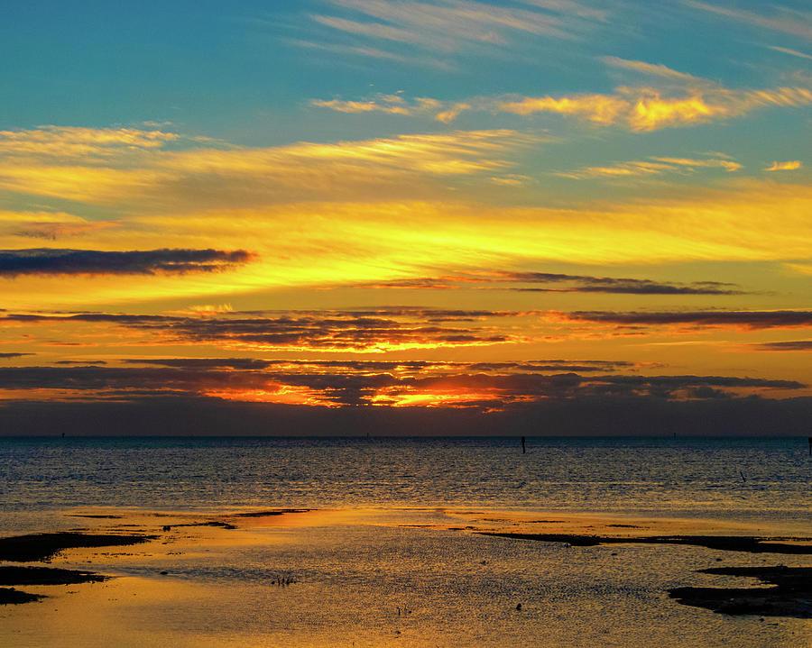 Key West Low Tide Sunrise by Bob Slitzan