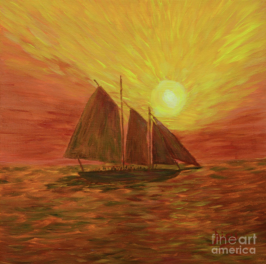 Key West Sailing by Aicy Karbstein
