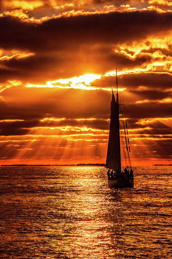 Key West Sunset Sail by Bob Slitzan