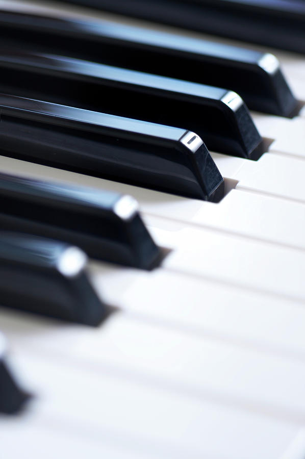 Keyboard Close Up Photograph by Marsbars