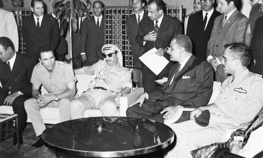 Khadafy, Arafat, Nasser And Hussein Photograph by Bettmann
