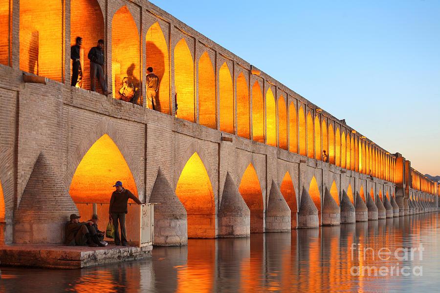 Religious Photograph - Khajoo Bridge Over Zayandeh River At by Vladimir Melnik