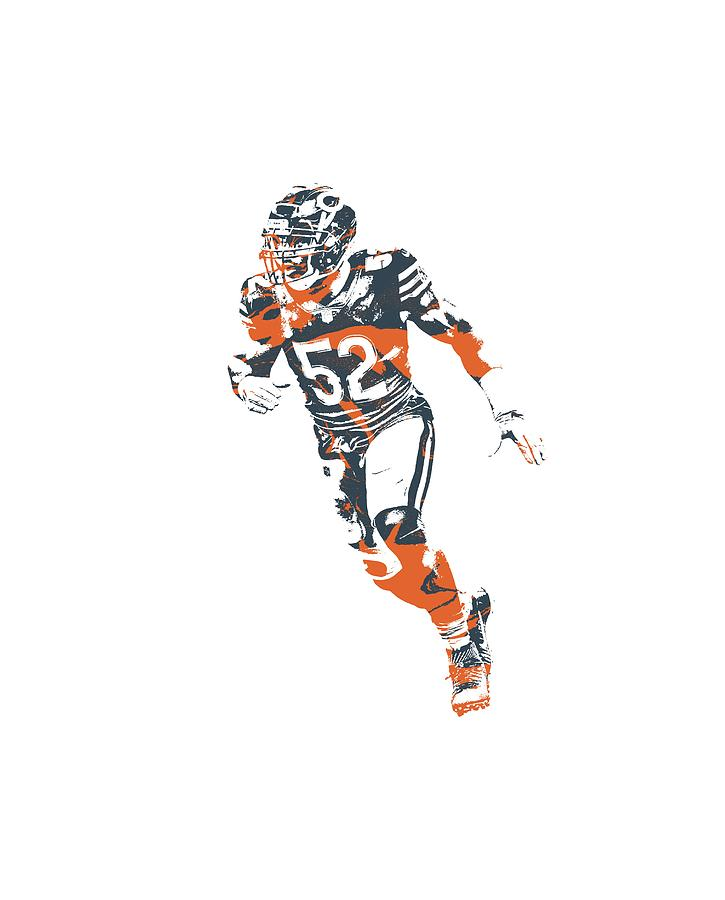 best cheap 69556 60fa5 Khalil Mack Chicago Bears Apparel T Shirt Pixel Art 2