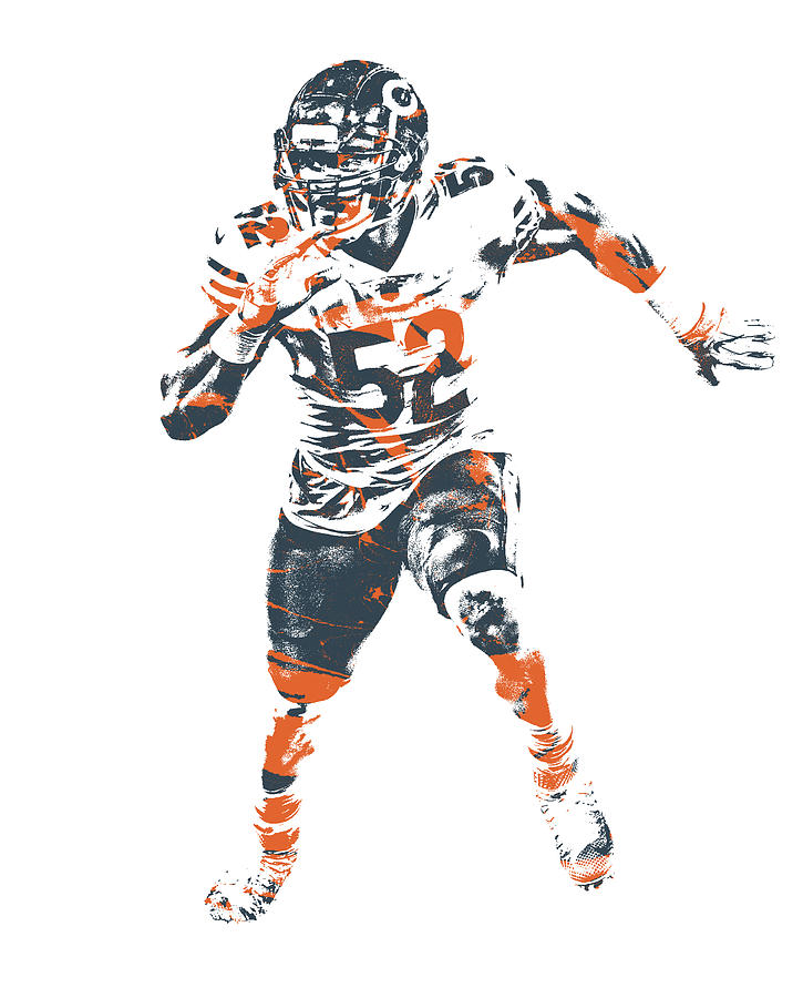 Khalil Mack Chicago Bears Pixel Art 1 Mixed Media By Joe Hamilton
