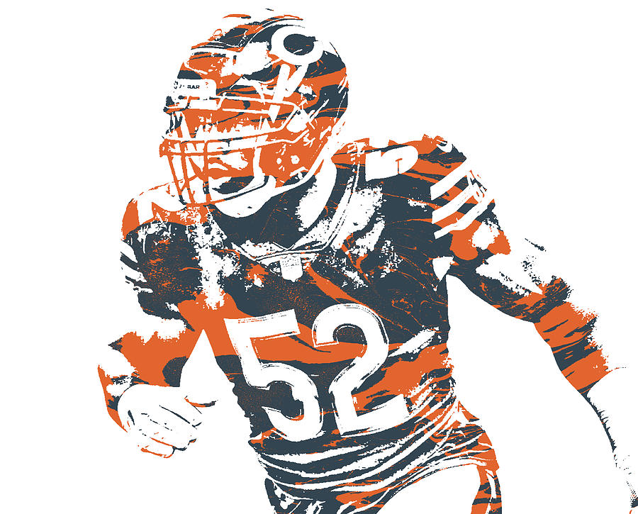 Khalil Mack Chicago Bears Pixel Art 32