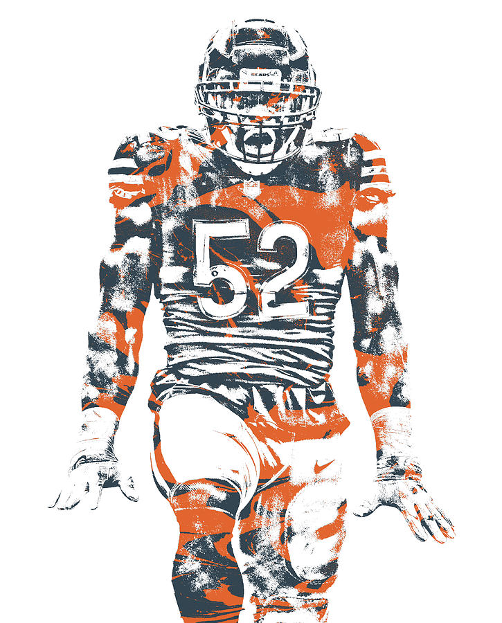 release date: bb36f 508dd Khalil Mack Chicago Bears Pixel Art 6