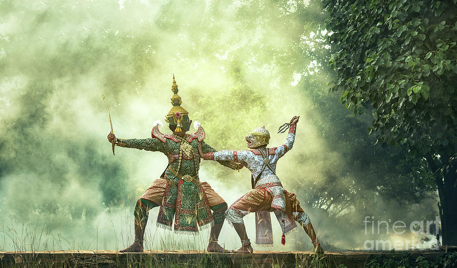 Khon Is Traditional Dance Drama Art Photograph by Std