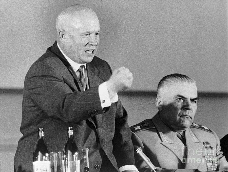 Khrushchev Shaking Fist Photograph by Bettmann
