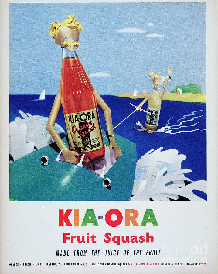 Kia-ora Fruit Squash Photograph by Picture Post