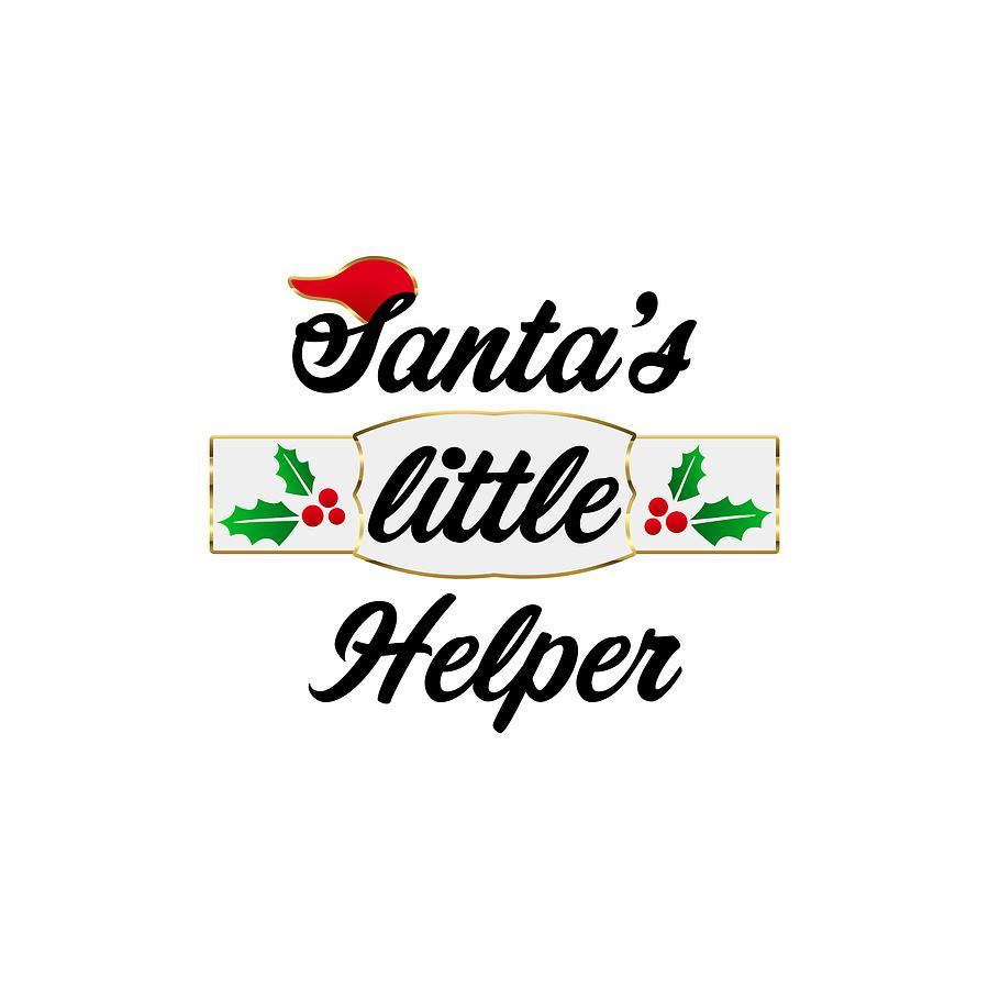 Santa Digital Art - Kids Christmas Santa Helper  by Lopa Soni