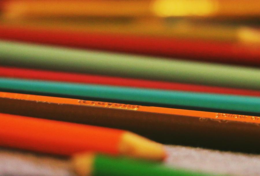Kids Crayons by The Art Of Marilyn Ridoutt-Greene